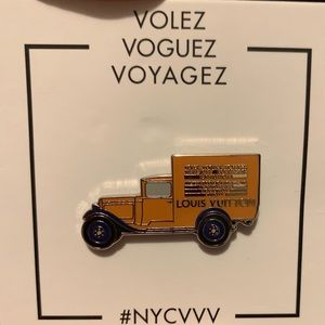 Louis Vuitton Limited Edition Yellow Truck Pin NEW